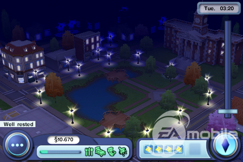 The Sims 3 Town Night